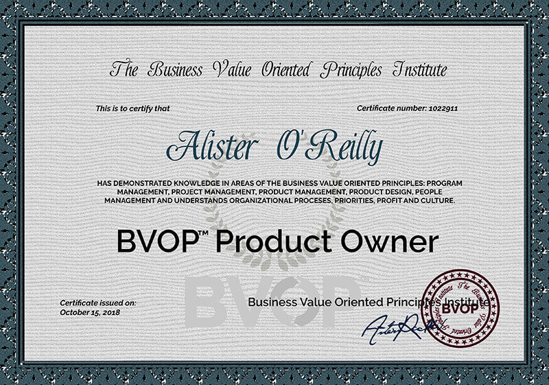 Product Owner Certification Online